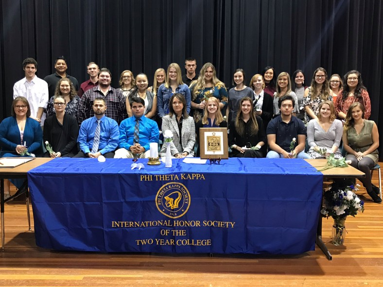 Phi Theta Kappa honor society group photo
