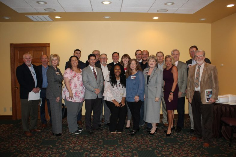 Seminole State College administrators, Regents, Foundation Trustees, local community leaders, legislators and students show their support for the College at the Oklahoma State Regents for Higher Education's Southeast Region Legislative Briefing at Pete's Place in Krebs on Jan. 15.