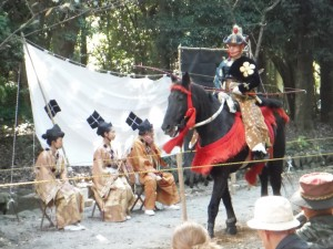 Horse Back Archery is a popular annual event held at Omi-Jingu Shrine in Otsu