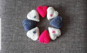 A number of our volunteers have made comfort hearts that are added to some of our referrals deliveries.