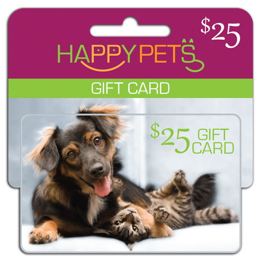 pet store small display plastic gift card