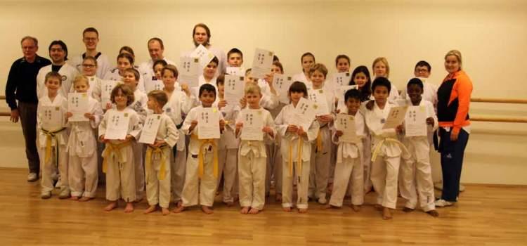 Die zweite Kup-Prüfung des SSK-Taekwondo-Teams Kerpen im SSK-Trainingscenter Kerpen