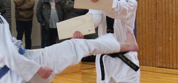 Taekwondo Kerpen: Bruchtest bei der Kup-Prüfung