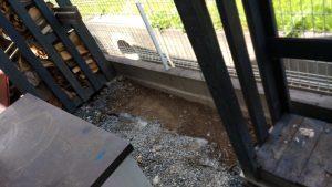 土が剥き出しのスペース