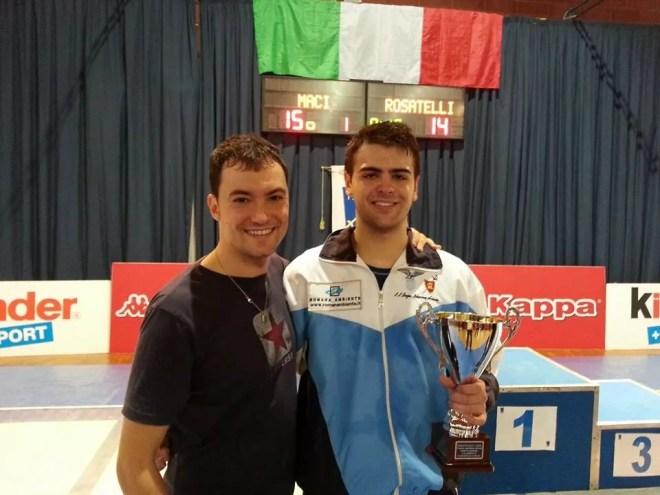 Damiano Rosatelli ed il Maestro Guido De Bartolomeo