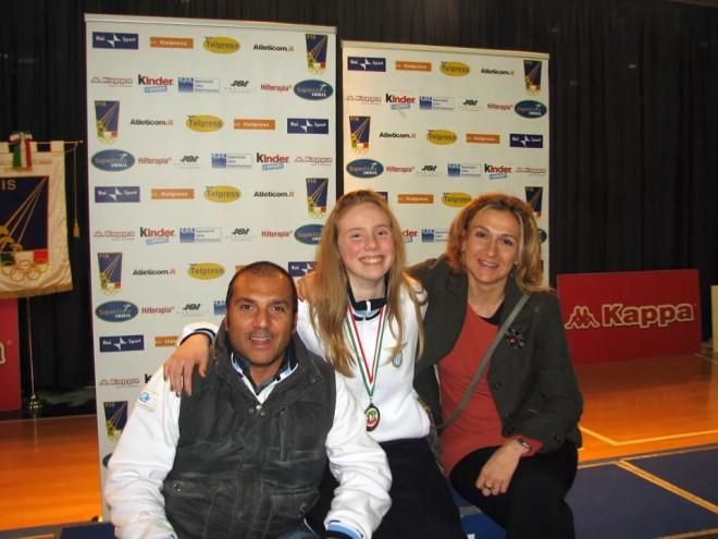 Susan Maria Sica con i Maestri Elisabetta Castrucci e Gianluca Aresu