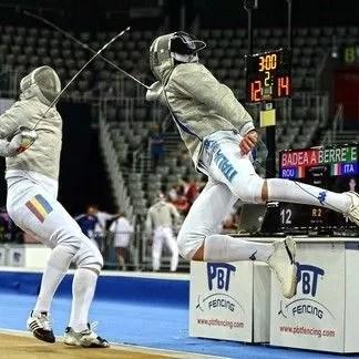 Campionati Europei di Zagabria (s.a. 2012/2013)  Un incredibile attacco di Enrico Berrè  Foto Trifiletti/Bizzi per Federscherma