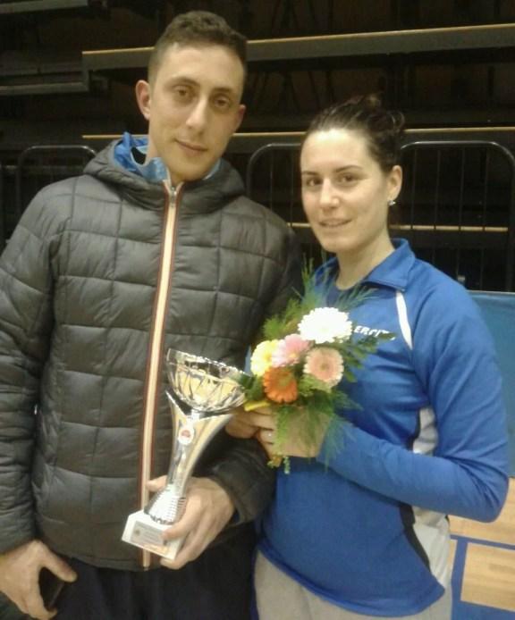 1^ prova di qualificazione (zona centro) - La vincitrice Paola Guarneri del Centro Sportivo Esercito con Il nostro Tecnico Fabio Bianchi.