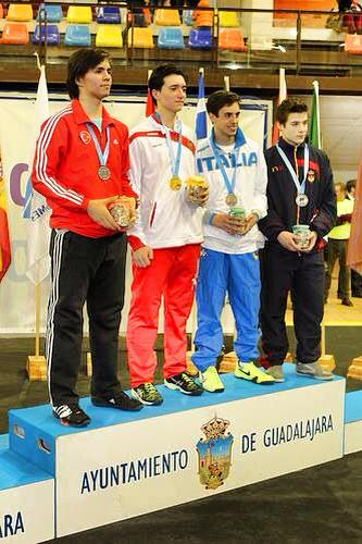 Filippo Gasperini medaglia di bronzo nel fioretto ai Campionati del Mediterraneo