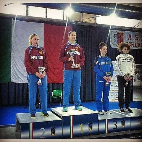 Pesaro 21.02.2015 - 2^ prova di qualificazione Sciabola femminile - Il podio