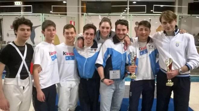 Coppa Lazio - 28.03.2015 - Il gruppo del Fioretto con il M° Lorenzo Nini
