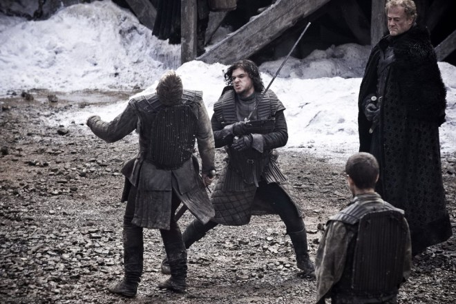 Dalla serie tv della HBO: Jon Snow e Grenn (fonte genius.com)