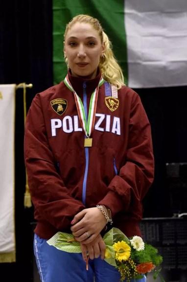 Norcia 7 febbraio 2016  Campionato Italiano Under 23 Sofia Ciaraglia 2^ classificata (foto Bizzi per Federscherma)