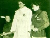 Il podio del Fioretto Femminile - Olimpiadi di Helsinki 1952  (fonte besport.org)