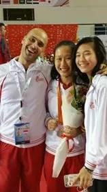 Giochi Asiatici 2016 Igor Celli con Jessica Ong e Nicole