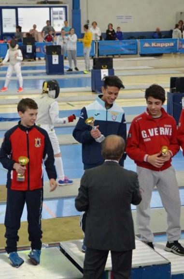 03.04.2016 Baronissi 3^ prova interregionale U14 Vincenzo Pellegrini Oro nella categoria Ragazzi/Allievi di Fioretto (foto S.Catone)