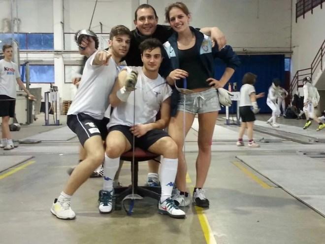 Edoardo Ritorto, Matteo Martini, Daniele Biaggi, Flavia Bonanni  (foto G.Ciacchi)