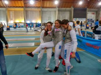 Ancona 7.5.2016 Serie A2 Fioretto Femminile La squadra ariccina (foto S.Catone)