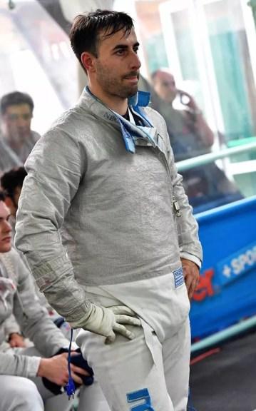 9.6.2016 Roma Campionati Italiani Assoluti - Sciabola maschile Gabriele Foschini (foto Bizzi per Federscherma)