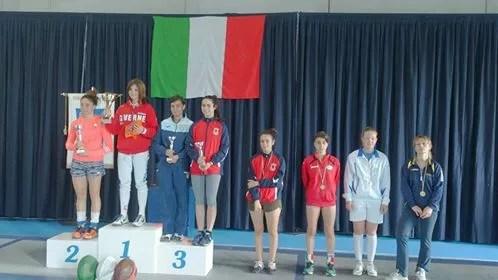 4/5.6.2016 Cassino Giulia Giannattasio 3^ classificata nella spada femminile