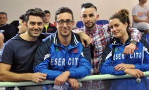 Roma 2^ prova nazionale giovani Old Ariccia: Enrico Berrè, Fabio Bianchi, Gianluca Filippi e Paola Guarneri (foto Trifiletti/Bizzi per Federscherma)