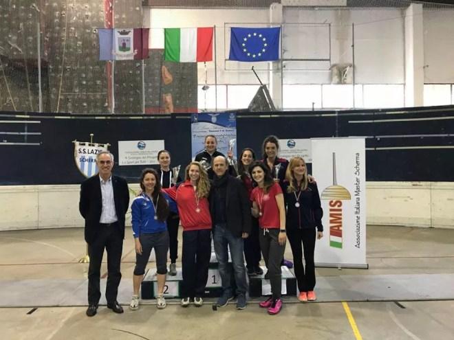23 aprile 2017 Palariccia 6^ prova nazionale master  Fioretto femminile cat. 0 (foto C.Alfano)