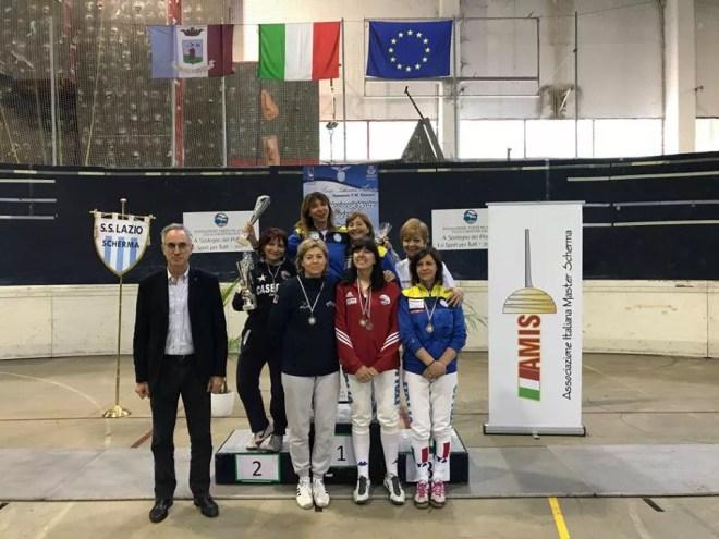 23 aprile 2017 Palariccia 6^ prova nazionale master  Fioretto femminile cat. 2 e 3 (foto C.Alfano)