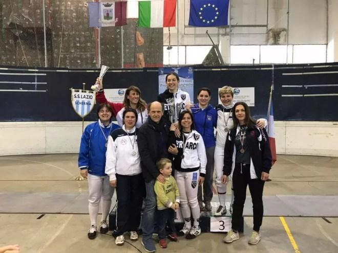 23 aprile 2017 Palariccia 6^ prova nazionale master  Sciabola femminile cat. 1 (foto C.Alfano)