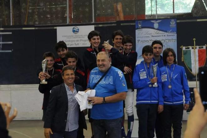 Palariccia 28 maggio 2017 Spada maschile ragazzi/allievi con il M°Tito Tomassini (foto M.Borro)