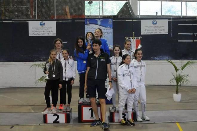 Palariccia 28 maggio 2017 Spada femminile bambine/giovanissime con il M° Francesco Leonardi (foto M.Borro)