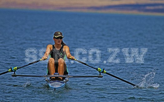Daniella du Toit of Chisipite is one of the bright spots on Zimbabwe's rowing scene