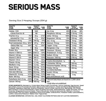 serious-mass-supplement-facts