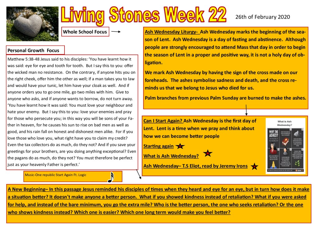 Week 22 Tutor time plan and resources