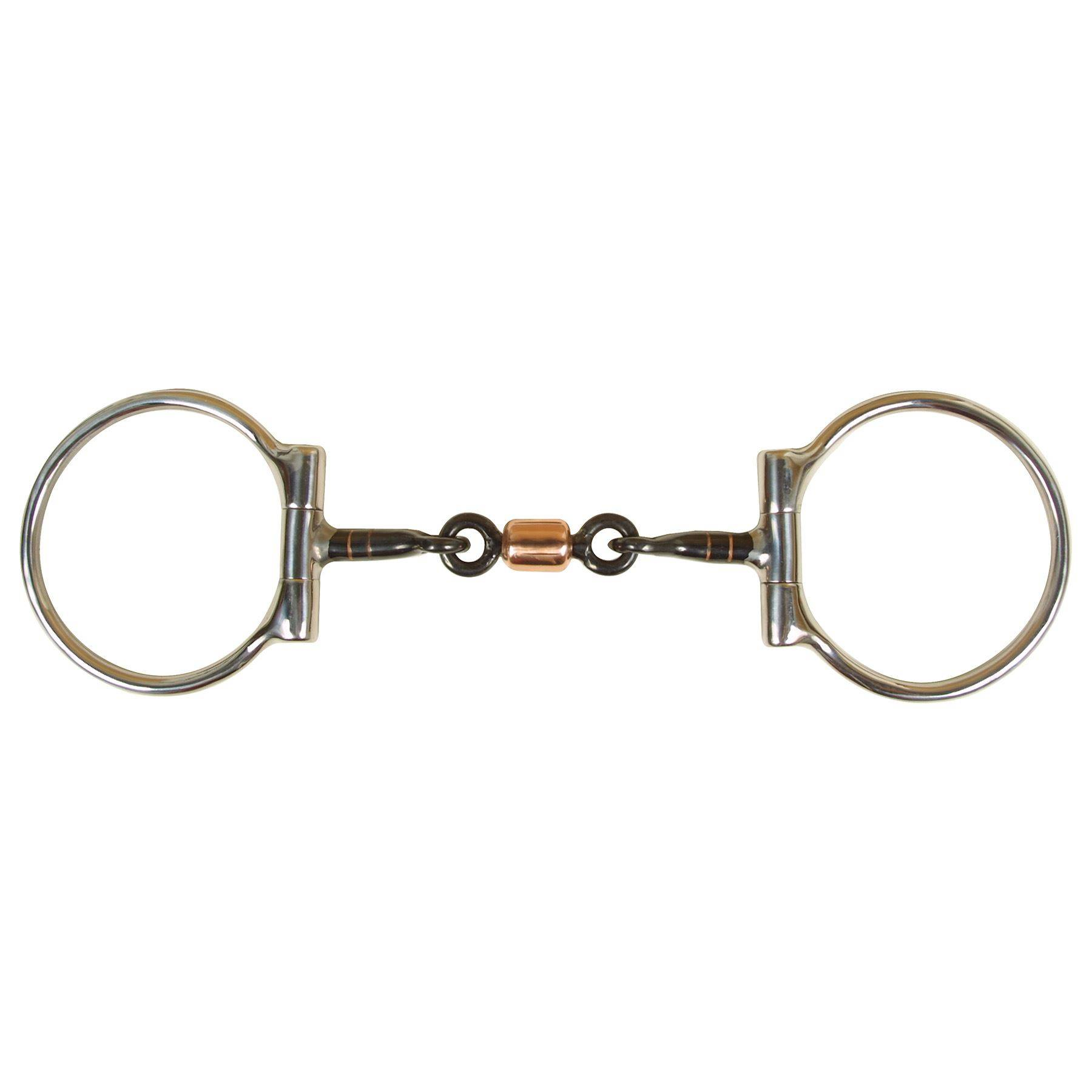 Fes D Ring Sweet Iron Snaffle Bit With Copper Roller In D