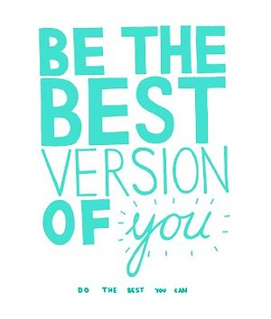 Be the best version of you in bold mint green font