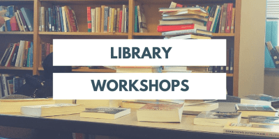 Library workshop graphic