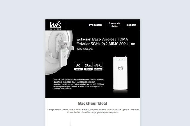diseño web y maquetación wifisafe newsletter