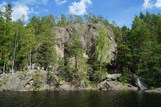 Astuvan ukon profiili järveltä katsottuna - Profile of Astuvan ukko seen from the lake