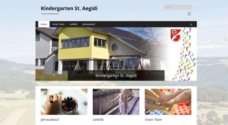 neue Website Kindergarten