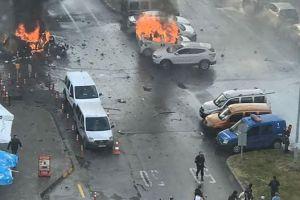 فيديو..لحظة وقوع الانفجار في إزمير بتركيا