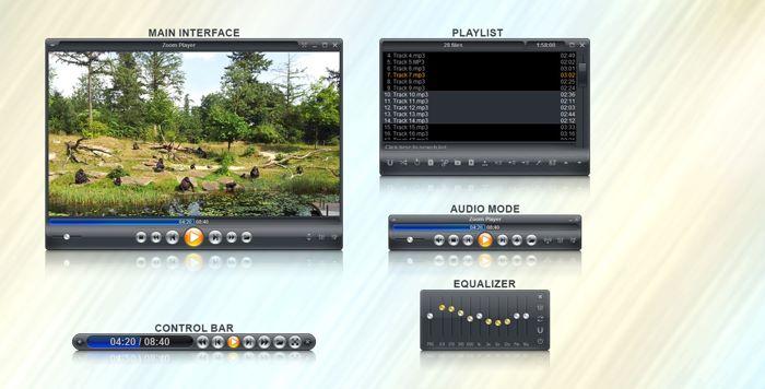 تحميل مشغل الصوت والفيديو Zoom Player مجانا