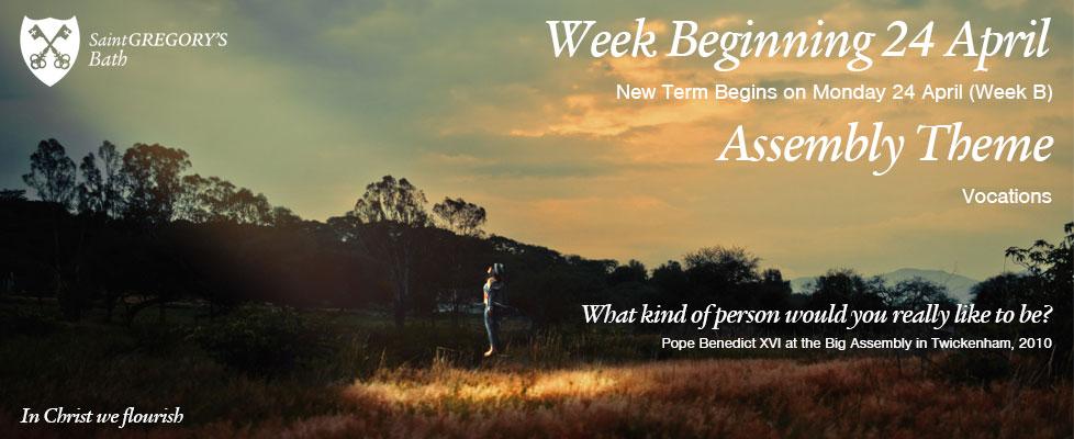 Week Beginning Monday 24 April – Week B