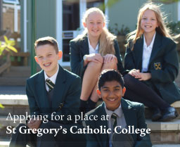 Apply for a place at St Gregory's Catholic College