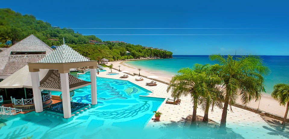 Sandals in St Lucia