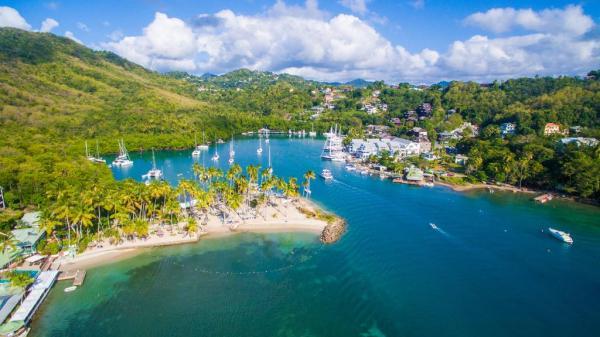 Marigot Bay In St Lucia