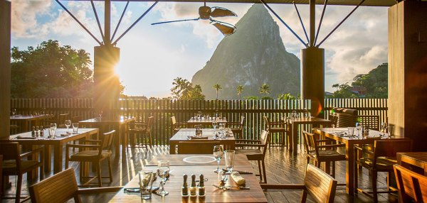 Restaurant in soufriere in St.Lucia