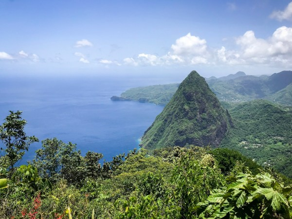 Hiking the pitons