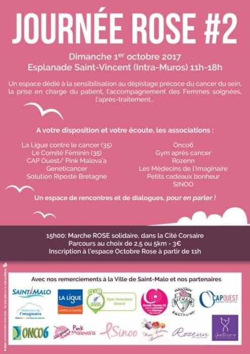 Animations Octobre Rose à Saint-Malo