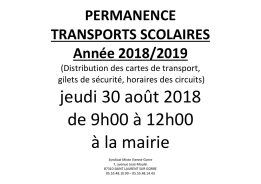 permanence TS 2018-2019
