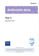 thumbnail of Arithmetic Answers Y5 Autumn All Tests